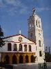 Platia - Dorfplatz von Sochos mit Kirche (Foto: katarina , Sochos, Zentralmakedonien, Griechenland am 26.09.2009) [1871]