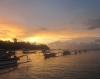 Sonnenaufgang in der Bucht (Foto: chari , Padangbai, Bali, Indonesien am 10.12.2014) [4327]