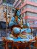 Shiva-Statue (Foto: chari , Rishikesh, Uttarakhand, Indien am 28.01.2018) [4937]