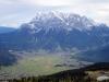 Blick auf Ehrwald und die Zugspitze (Foto: Christian Pulfrich am 10.10.2017) [5108]