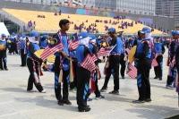 Schüler üben für den Unabhängigkeitstag (Foto: chari , Kuala Lumpur, Kuala Lumpur, Malaysia am 28.08.2016) [4708]