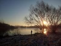 Winterstimmung kurz nach Sonnenaufgang am Obersee (Foto: katarina , Bielefeld, Unteres Weserbergland 53, Deutschland am 22.01.2017) [4801]