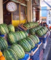 Karpuzia = Wassermelonen = hmm... (Foto: katarina , Langadas, Zentralmakedonien, Griechenland am 22.09.2010) [2009]