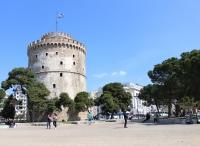 Λευκός Πύργος - der weiße Turm (Foto: chari , Thessaloniki, Zentralmakedonien, Griechenland am 28.03.2018) [5003]