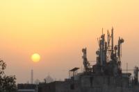 Sonnenaufgang über Delhi (Foto: chari , Neu-Delhi, Delhi, Indien am 11.05.2019) [5153]