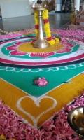 Homa im Ashram zum Beseitigen aller Hindernisse (Foto: katarina , Neyyar Dam, Kerala, Indien am 10.02.2020) [5354]