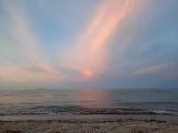 Sonnenuntergang am Strand von Prunete (Foto: katarina , Cervione, Korsika, Frankreich am 02.08.2021) [5427]